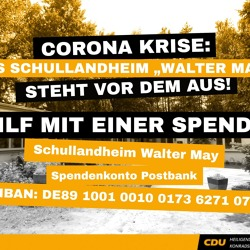 "Spendenaktion für Schullandheim ""Walter May"" e.V."