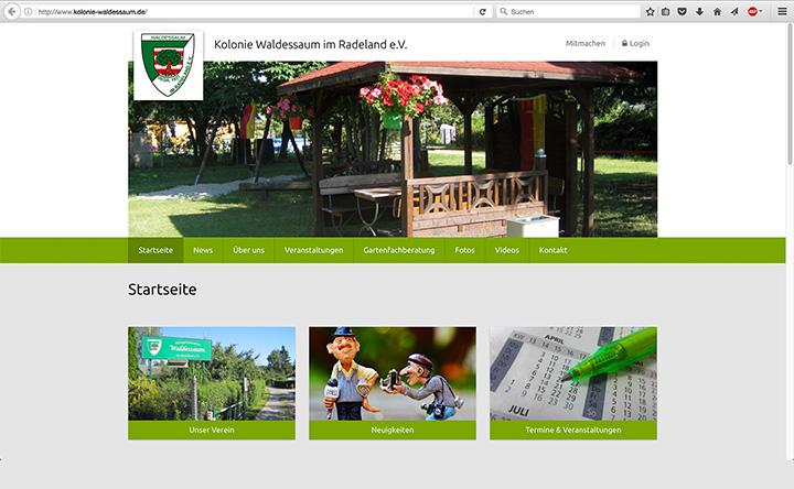 Kolonie Waldessaum im Radeland e.V. Webseite besuchen